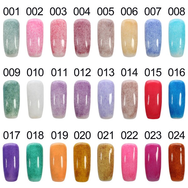 24 Colors 15ml Fur Styles Velvet Nail Art Soak Off UV Gel Polish Charming