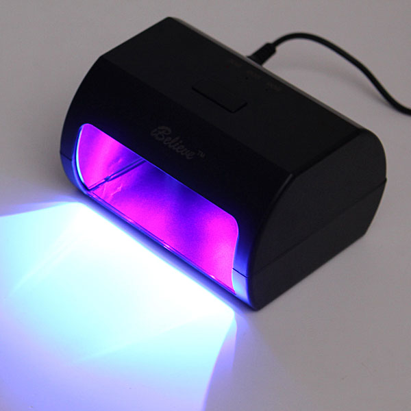 9W 100-240V Black Nail Art LED Lamp UV Gel Polish Dryer