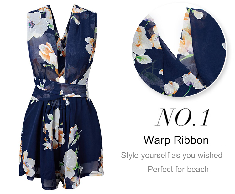 Women Sexy Floral Jumpsuits