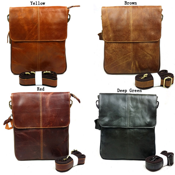 Men Bag, Genuine Real Leather, Retro Business Casual, Shoulder Crossbody Bag
