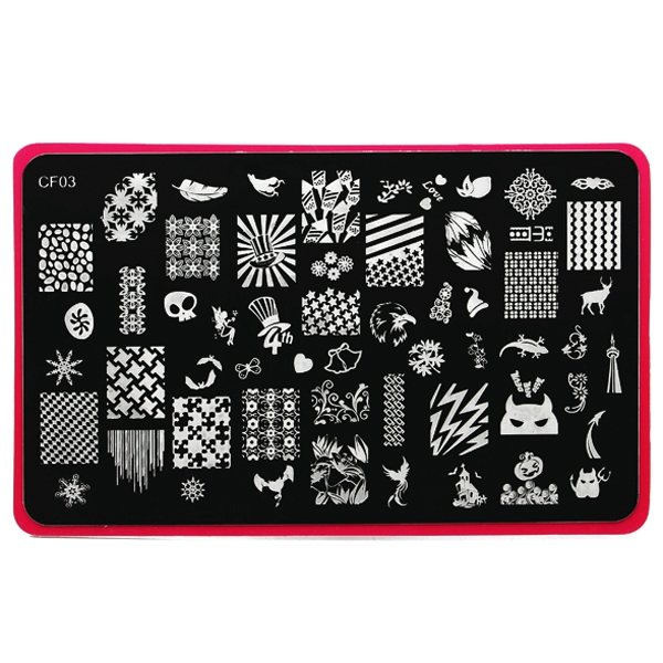 Stainless Manicure Nail Art Stamping Template Image Stamp Plate