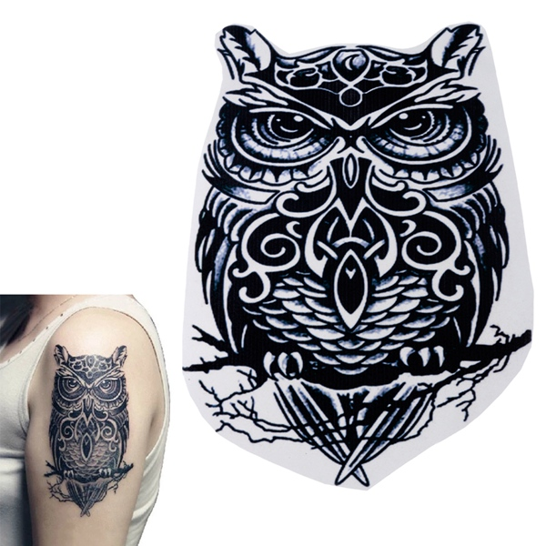 Temporary Owl Pattern Body Arm Water Transfer Tattoo Sticker