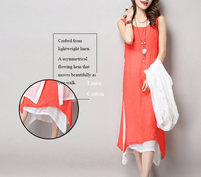 Two Pieces Linen Dress
