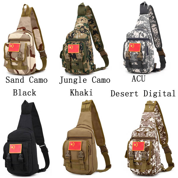 Men Bag, Casual Nylon Tactical, Outdoor Chest Bag, Camo Crossbody Bag