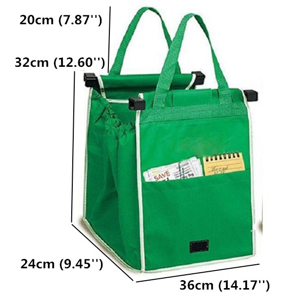 Size Of Foldable Supermarket Bags
