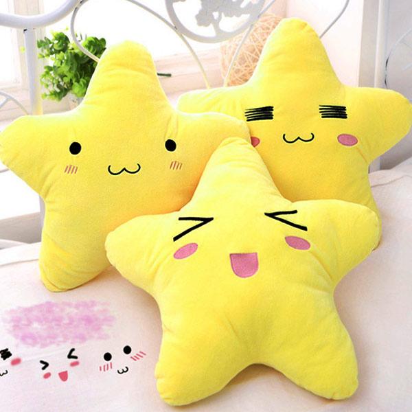 Outdoor Throw Pillows Kmart : Hot-sale Cotton Cartoon Star Expression Shape Throw Pillow Plush Sofa Bed Car Office Cushion ...