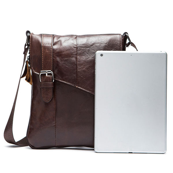 Men Bag, Business Genuine Leather, Casual Khaki Coffee, Black Shoulder Crossbody Bag