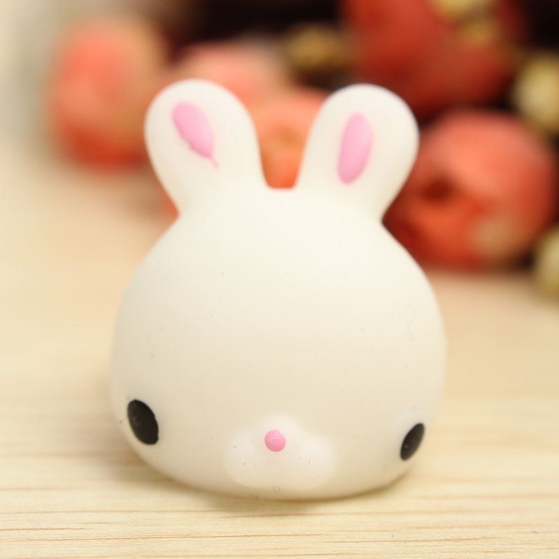 Squishy Bunny : Mochi Bunny Rabbit Squishy Squeeze Cute Healing Toy Kawaii Collection Stress Reliever Gift Decor ...