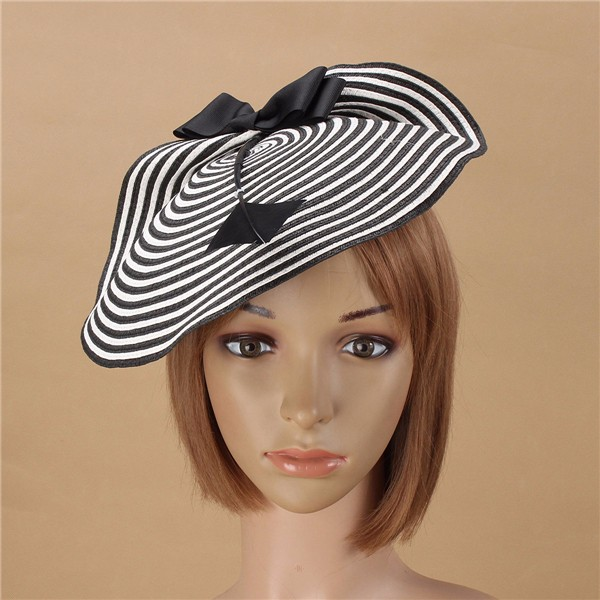 b8a61b8a91c Women Straw Arrow Fascinator Cocktail Saucer Hat Party Wedding ...