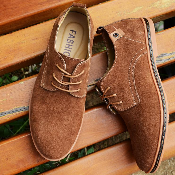 Big Size Men Leather Pure Color Casual Business British Style Lace Up Oxford Shoes Newchic