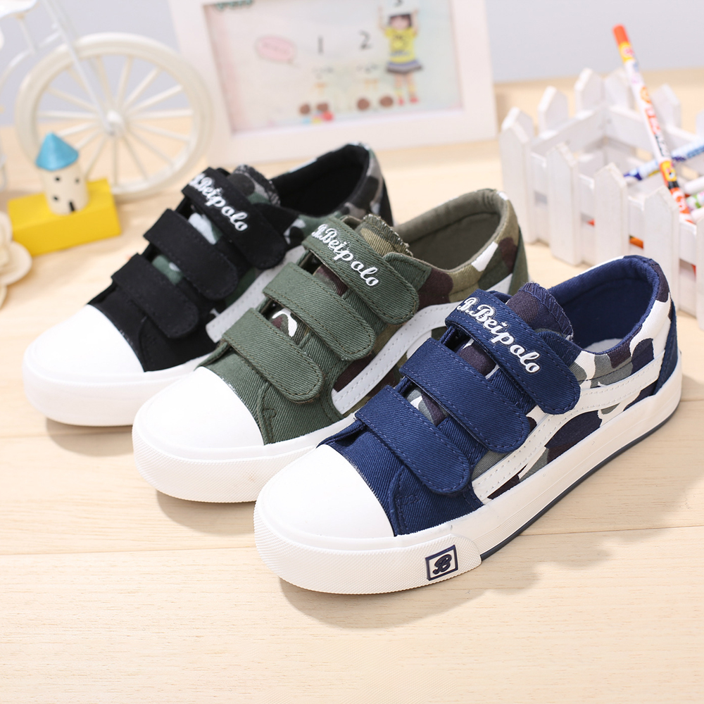 1e70f12036a5e Boys Camouflage Decor Hook Loop Comfy Casual Shoes Online - NewChic